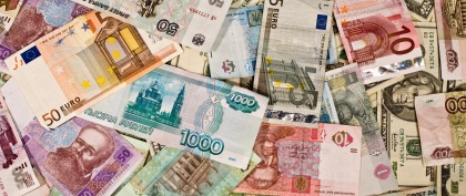 money series: different country money banknotes texture